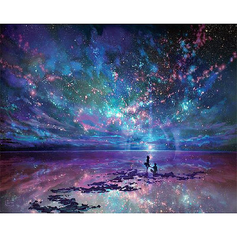 Diamond Painting - Sky Of Fate - Floating Style - Diamond Haft - Paint With Diamond