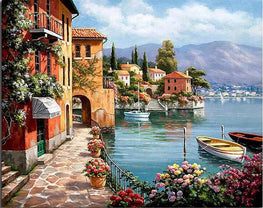 Paint by Numbers - Tranquil Bay - Floating Styles - Diamond Embroidery - Paint With Diamond