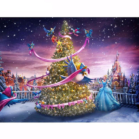 Diamond Painting - Christmas Princess - Floating Style - Diamond Haft - Paint With Diamond
