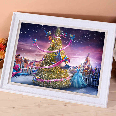 Obraz Diamond Painting - Christmas Princess - Floating Style - Diamond Haft - Paint With Diamond