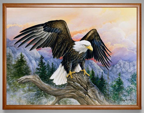 Image of Diamond Painting - Mountain Eagle - Floating Styles - Diamond Embroidery - Paint With Diamond