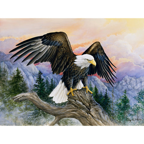 Bild på Diamond Painting - Mountain Eagle - Flytande stilar - Diamond Broderi - Måla med Diamond