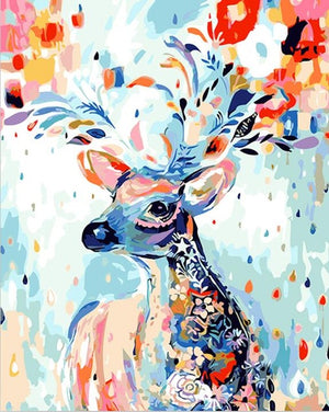 Paint by Numbers - Deer - Floating Styles - Diamond Embroidery - Paint With Diamond