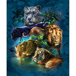 Diamentowe malowanie - Jungle Animals - Floating Style - Diamond Haft - Paint With Diamond