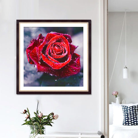 Image of Deal of Diamond Painting - Sparkling Rose - Floating Styles - Diamond Embroidery - Paint With Diamond