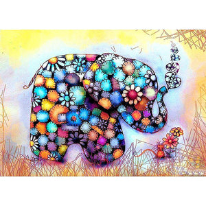 Diamond Painting - Splendid Elephant - Stili fluttuanti - Diamond Embroidery - Paint With Diamond