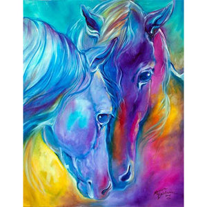 Diamond Painting - Fantasy Horses - Stili fluttuanti - Diamante Ricamo - Dipingi con diamante