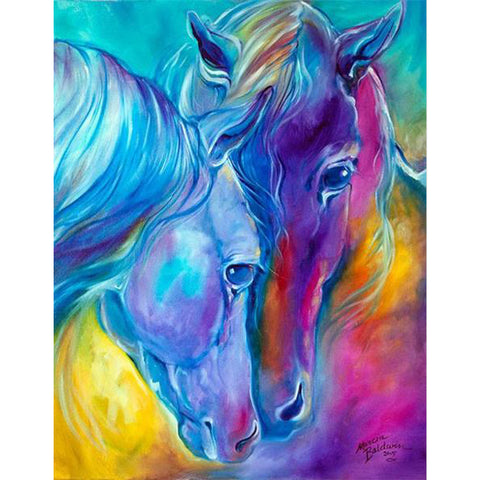 Diamond Painting - Fantasy Horses - Floating Style - Diamond Haft - Paint With Diamond