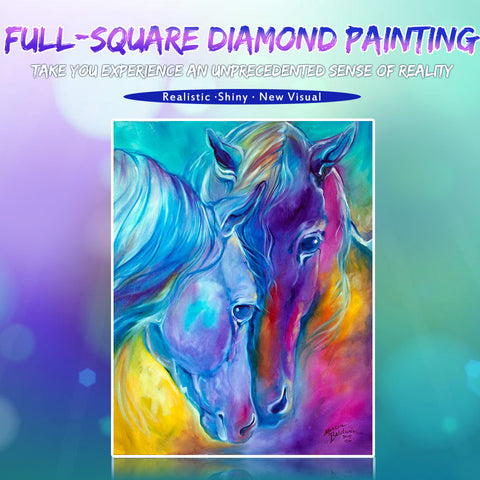 Bild av Diamond Painting - Fantasy Horses - Flytande stilar - Diamond Broderi - Måla med Diamond
