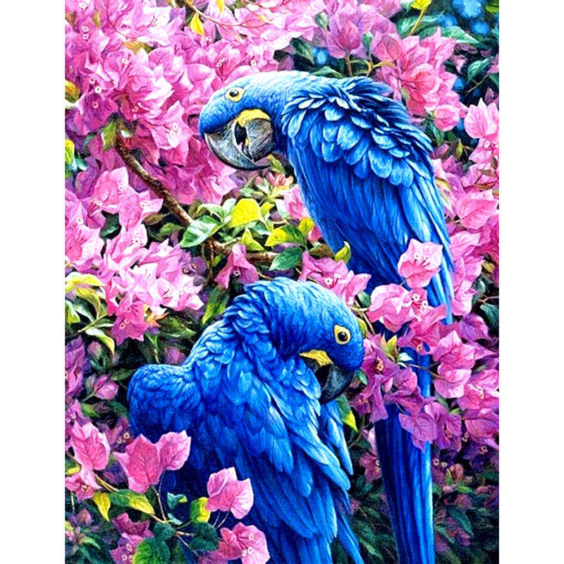 Diamond Painting - Blue Parrot - Floating Styles - Diamond Embroidery - Paint With Diamond