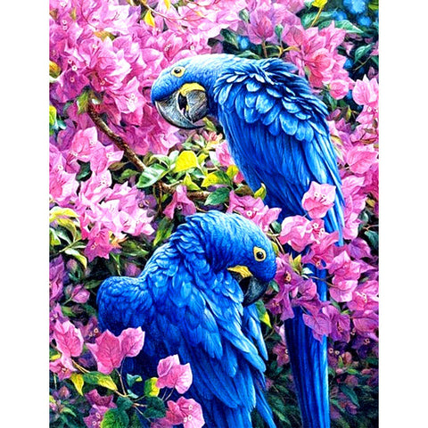 Diamond Painting - Blue Parrot - Floating Style - Diamond Haft - Paint With Diamond