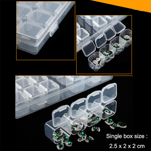 Bilde av Diamond Painting Accessory Boxes, 28 Avtagbare Bokser - Flytende Styles - Diamond Broderi - Paint With Diamond