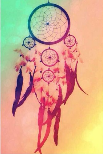 Diamond Painting - Indian Dream Catcher - 1 - Floating Styles - Diamond Embroidery - Paint With Diamond