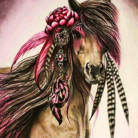 Diamond Painting - Beautiful Horse - Floating Styles - Diamond Embroidery - 다이아몬드 페인트