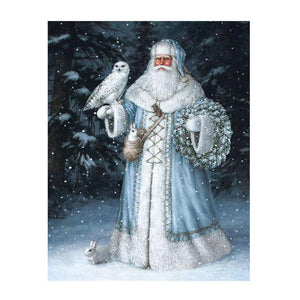 Diamond Painting - Snow Father Christmas - 1 - Floating Style - Diamond Haft - Paint With Diamond