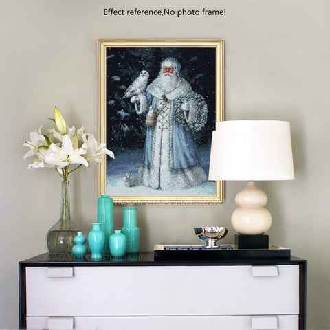 Diamond Painting - Snow Father Christmas - 1 - Drijvende stijlen - Diamond Embroidery - Paint With Diamond