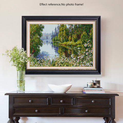 Diamond Painting - Summer Riverside - Floating Styles - Diamond Embroidery - Paint With Diamond