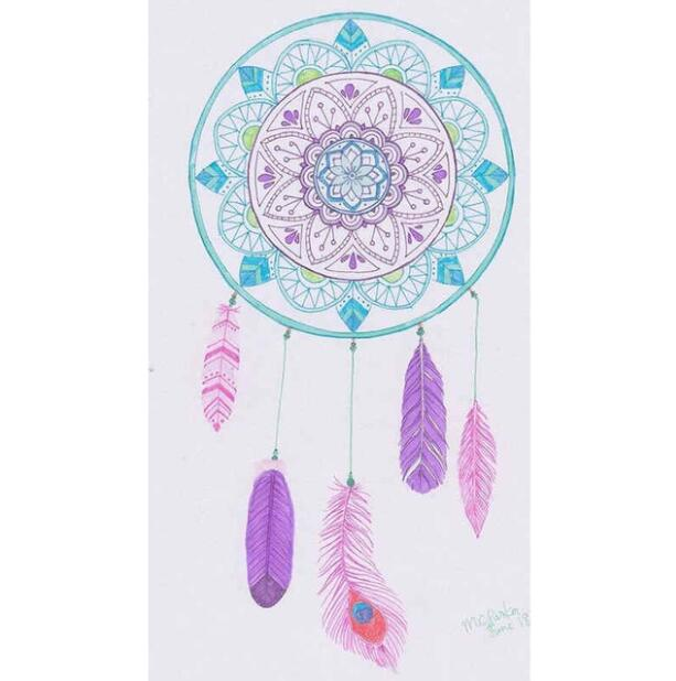 Pintura de diamante - Indian Dream Catcher - 18 - Estilos flotantes - Bordado de diamantes - Pintura con diamante