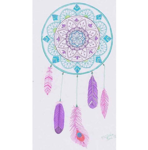 Imagen de pintura de diamante - Indian Dream Catcher - 18 - Estilos flotantes - Bordado de diamante - Pintura con diamante
