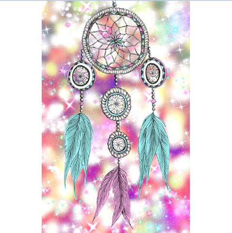 Imagen de pintura de diamante - Indian Dream Catcher - 8 - Estilos flotantes - Bordado de diamante - Pintura con diamante