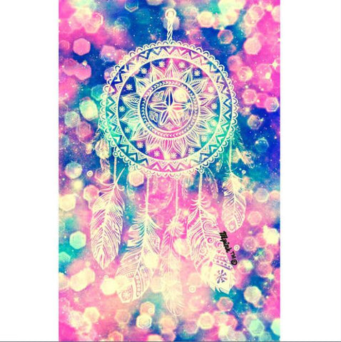 Afbeelding van Diamond Painting - Indian Dream Catcher - 22 - Floating Styles - Diamond Embroidery - Paint With Diamond