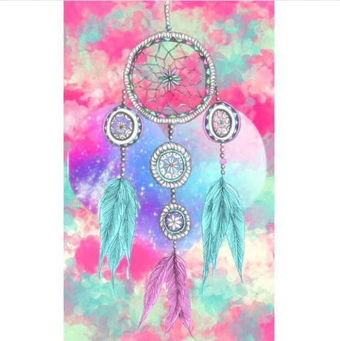 Bild der Diamantmalerei - Indian Dream Catcher - 13 - Floating Styles - Diamantstickerei - Malen mit Diamant