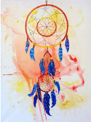 Diamantmalerei - Indian Dream Catcher - 2 - Floating Styles - Diamantstickerei - Malen mit Diamant