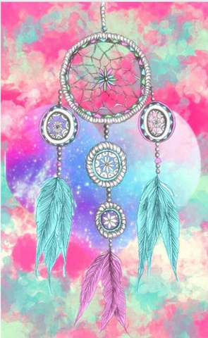Bild der Diamantmalerei - Indian Dream Catcher - 14 - Floating Styles - Diamantstickerei - Malen mit Diamant