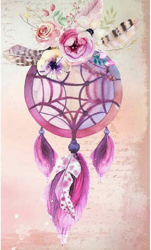 Diamantmalerei - Indian Dream Catcher - 15 - Floating Styles - Diamantstickerei - Malen mit Diamant