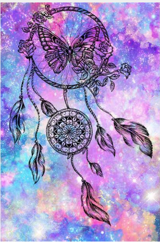 Bild der Diamantmalerei - Indian Dream Catcher - 12 - Floating Styles - Diamantstickerei - Malen mit Diamant