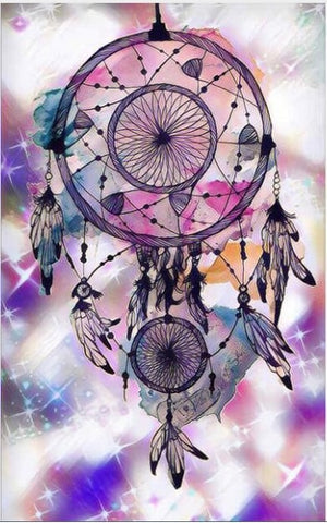 Diamantmalerei - Indian Dream Catcher - 9 - Floating Styles - Diamantstickerei - Malen mit Diamant