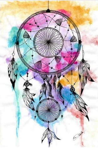 Bild der Diamantmalerei - Indian Dream Catcher - 20 - Floating Styles - Diamantstickerei - Malen mit Diamant