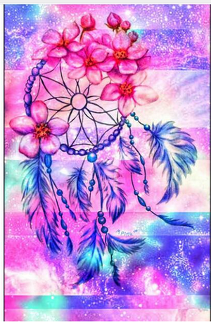 Diamantmalerei - Indian Dream Catcher - 11 - Floating Styles - Diamantstickerei - Malen mit Diamant