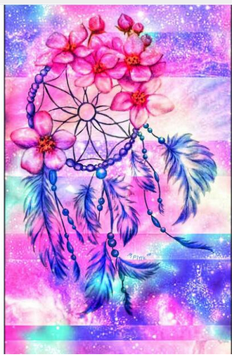 Diamond Painting - Indian Dream Catcher - 11 - Floating Styles - Diamond Embroidery - Paint With Diamond