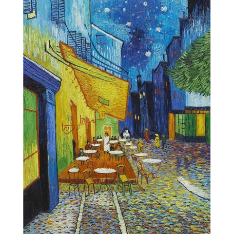 Diamond Painting  - Van Gogh Coffee House - Floating Styles - Diamond Embroidery - Paint With Diamond