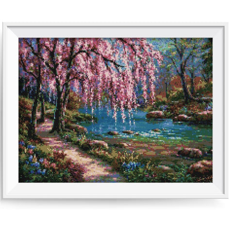 Bilde av Diamond Painting - Spring Pathway - Flytende Stiler - Diamond Broderi - Maling Med Diamond