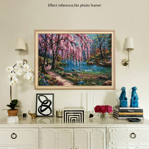 Image of Diamond Painting - Spring Pathway - Floating Styles - Diamond Embroidery - Paint With Diamond