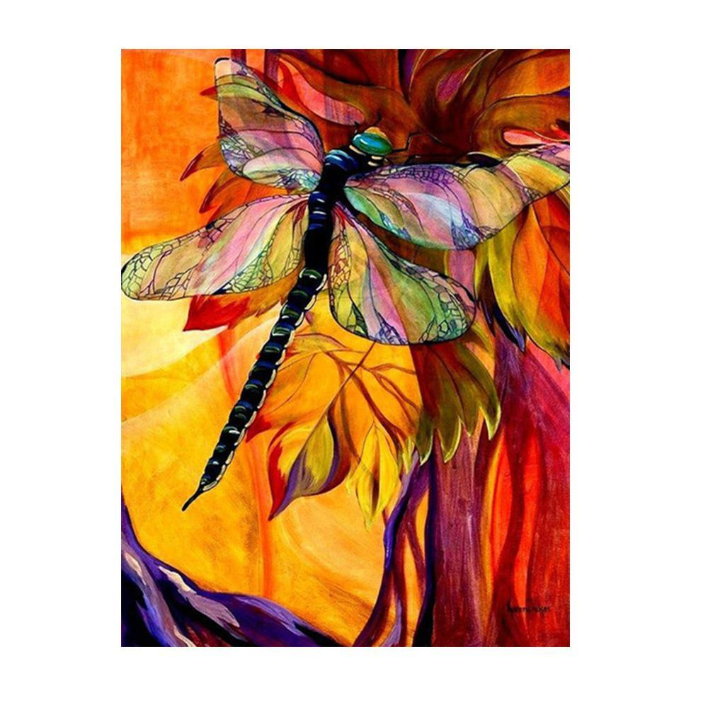 Diamond Painting - Dragonfly - Drijvende stijlen - Diamond Embroidery - Paint With Diamond