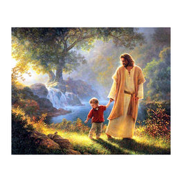 Diamond Painting - JEHOVAH, OUR FATHER, AND HIS SON JESUS CHRIST - Floating Styles - Diamond Embroidery - Paint With Diamond