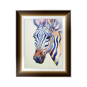 Diamantmalerei - Zebra - 30x40cm - Teilweise geklebt - Floating Styles - Diamantstickerei - Malen mit Diamant