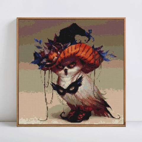 Afbeelding van Diamond Painting - Mysterious Halloween Guest - Drijvende stijlen - Diamond Embroidery - Paint With Diamond