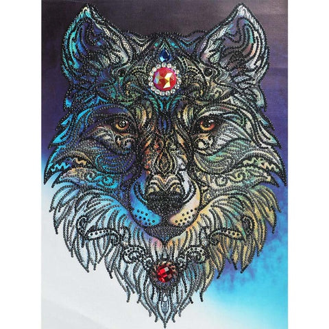 Image of Bedazzled Diamond Painting - Power Wolf - Floating Styles - Diamond Embroidery - Paint With Diamond