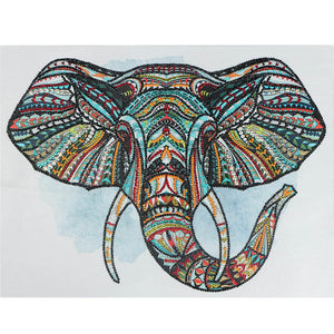 Bedazzled Diamond Painting - Lucky Elephant - Flytande stilar - Diamond Broderi - Måla med Diamond