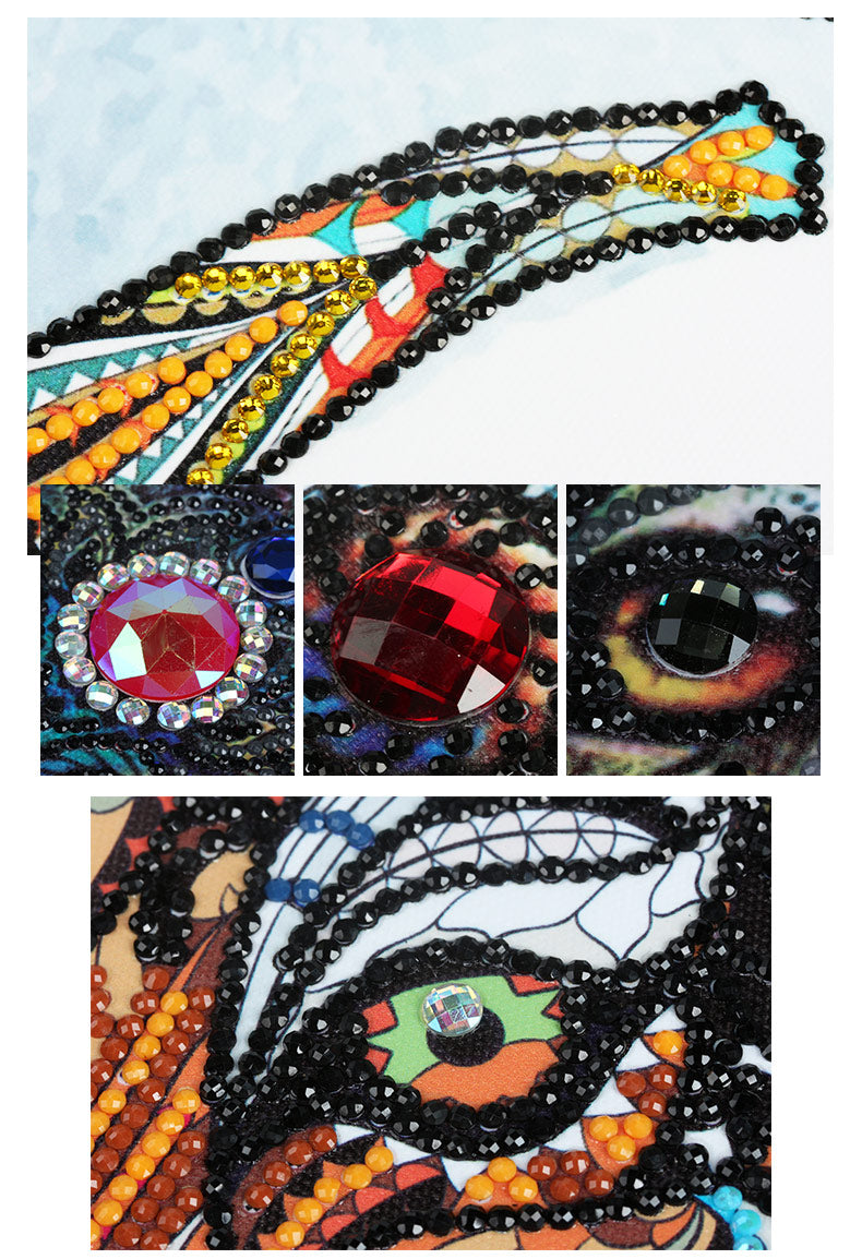 Bedazzled Diamond Painting - Lucky Lion - Floating Styles - Diamond Embroidery - Paint With Diamond