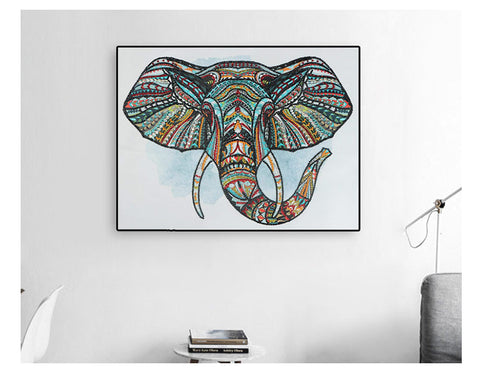 Imagem de Bedazzled Diamond Painting - Sorte Elefante - Estilos Flutuantes - Diamond Embroidery - Paint With Diamond