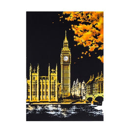 Scratch Art - London Big Ben - Floating Styles - Diamond Embroidery - Paint With Diamond
