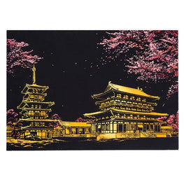 Scratch Art - Japan's Spring - Floating Styles - Diamond Embroidery - Paint With Diamond