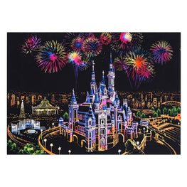 Scratch Art - Dream Castle - Floating Styles - Diamond Embroidery - Paint With Diamond