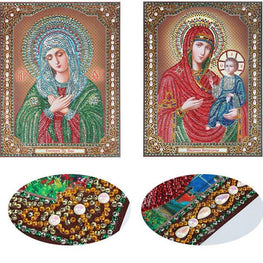 Bedazzled Diamond Painting - Religion - Floating Styles - Diamond Embroidery - Paint With Diamond