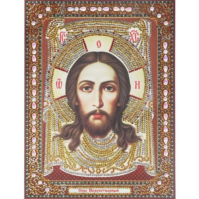 Bedazzled Diamond Painting - Religion - 7 - Schwimmende Stile - Diamantstickerei - Malen mit Diamant